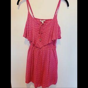 pink white & black patterned cami dress!